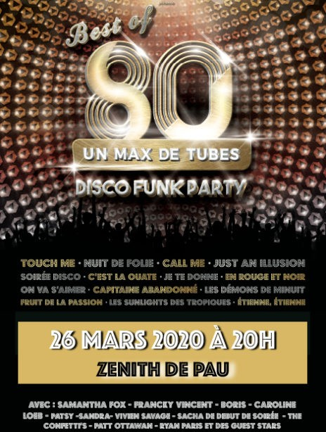 Ticketpass : Zenith de Pau BEST OF 80