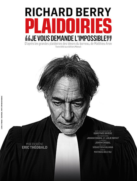 Ticketpass : Zenith de Pau RICHARD BERRY   PLAIDOIRIES
